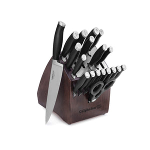 Calphalon Contemporary Self-Sharpening 20-Piece Knife Block Set with SharpIN Technology, Black