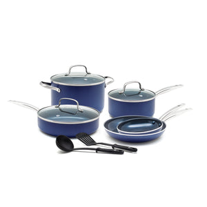 Blue Diamond CC001602-001 Toxin Free Ceramic Nonstick Cookware Set, 10pc