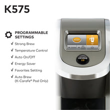 Load image into Gallery viewer, Keurig K575 Coffee Maker, Single Serve K-Cup Pod Coffee Brewer, Programmable Brewer, Platinum