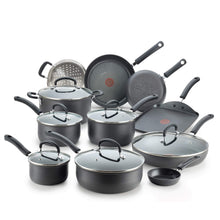 Load image into Gallery viewer, T-fal E765SH Ultimate Hard Anodized Nonstick 17 Piece Cookware Set, Black