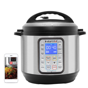 Instant Pot Smart Wifi 6 Quart Multi-use Electric Pressure, Slow, Rice Cooker, Yogurt, Cake Maker, Sauté, Steamer and Warmer, Silver