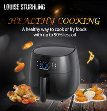 Load image into Gallery viewer, LOUISE STURHLING All-Natural Healthy Ceramic Coated 4.0L Air Fryer. BPA-FREE, PFOS & PFOA-FREE, 7-in-1 Pre-programmed One-touch Settings, Exclusive BONUS Items - FREE COOKBOOK, TONGS & PIZZA PAN