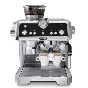 De'Longhi La Specialista Espresso Machine with Sensor Grinder, Dual Heating System, Advanced Latte System & Hot Water Spout for Americano Coffee or Tea, Stainless Steel, EC9335M