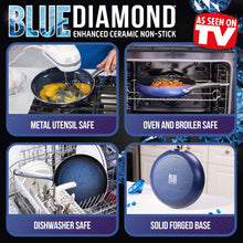 Load image into Gallery viewer, Blue Diamond CC001602-001 Toxin Free Ceramic Nonstick Cookware Set, 10pc