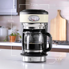 Load image into Gallery viewer, Russell Hobbs CM3100CRR Retro Style Coffeemaker, 8-Cup, Cream
