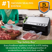 Load image into Gallery viewer, Foodsaver V4400 2-in-1 Vacuum Sealer Machine with Automatic Bag Detection and Starter Kit | Safety Certified | Black & Silver