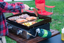 Load image into Gallery viewer, Blackstone Tabletop Grill - 22 Inch Portable Gas Griddle - Propane Fueled - 2 Adjustable Burners - Rear Grease Trap - For Outdoor Cooking While Camping, Tailgating or Picnicking - Black