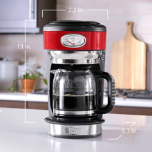 Load image into Gallery viewer, Russell Hobbs CM3100RDR Retro Style Coffeemaker, 8-Cup, Red