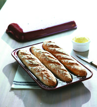 "Load image into Gallery viewer, Emile Henry Made In France Baguette Baker, 15.4 x 9.4"""", Burgundy"