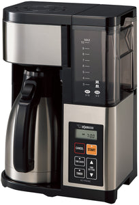 Zojirushi EC-YTC100XB Coffee Maker, 10 Cup, Stainless Steel/Black