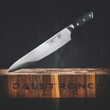 "Load image into Gallery viewer, DALSTRONG Chef Knife - Shogun Series Gyuto - Damascus - Japanese AUS-10V Super Steel - Vacuum Heat Treated - 9.5"" (240mm)"