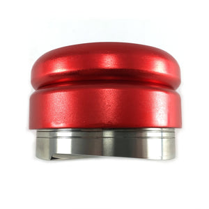 Coffee Distributor/Leveler Tool - for 58mm Espresso Portafilters - EVENLY DISTRIBUTES COFFEE GROUNDS - Provides Proper Tamping - ADJUSTABLE (58mm, Red)