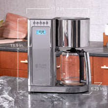 Load image into Gallery viewer, Russell Hobbs Glass Series 8-Cup Coffeemaker, Silver & Stainless Steel, CM8100GYR