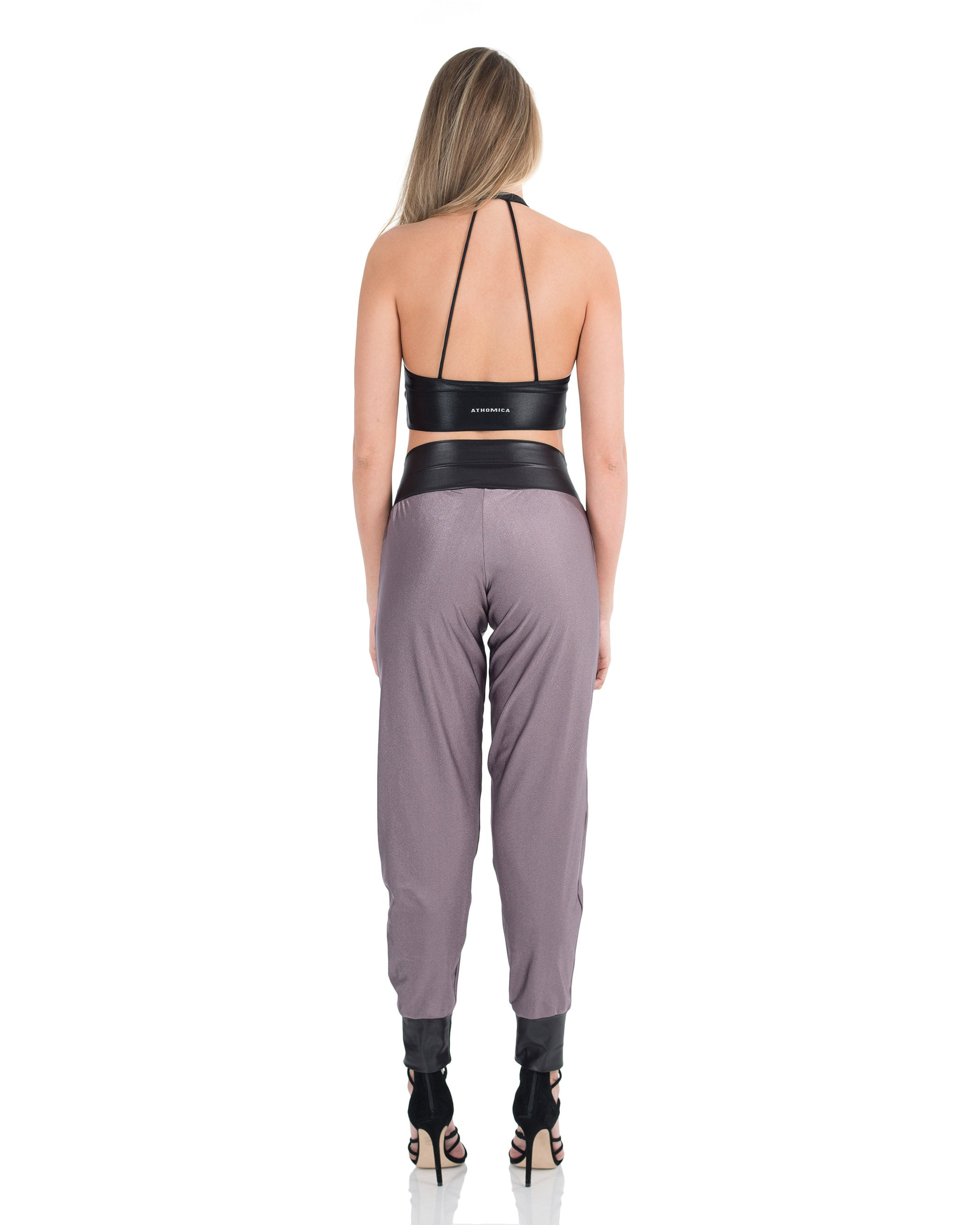 Metallic Jogging Leggings - Alchemy Purple - AVESSA
