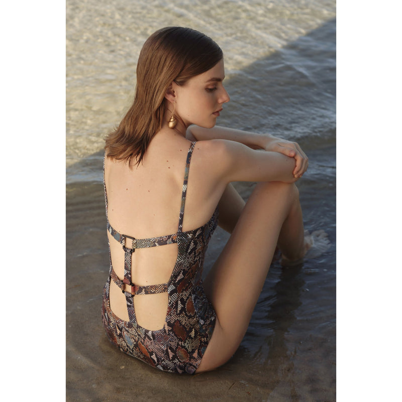 MARION maillot one piece, printed swimsuit by french luxury swimwear brand:  ALMA – lookbook 2