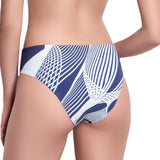 SOPHIE knotted belt panty, printed bikini bottom by ALMA swimwear  – back view
