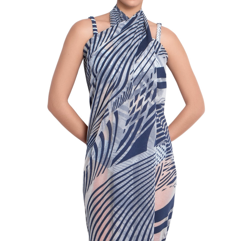 SOPHIE printed pareo, cover up by ALMA swimwear – front view 1