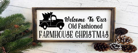 Welcome to our old fashioned farmhouse Christmas/seasonal/holiday/Santa/winter/vintage/country/rustic