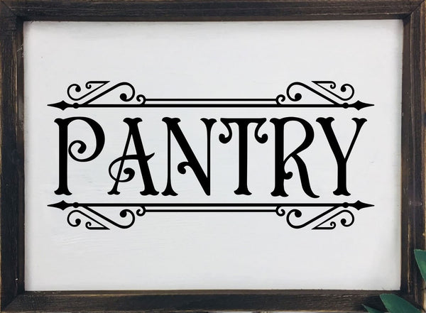 Pantry Canvas Sign, Framed, Kitchen Decor, Farmhouse decor, Wall hangings, wall decor, Pantry, household sign, reverse canvas, Rustic