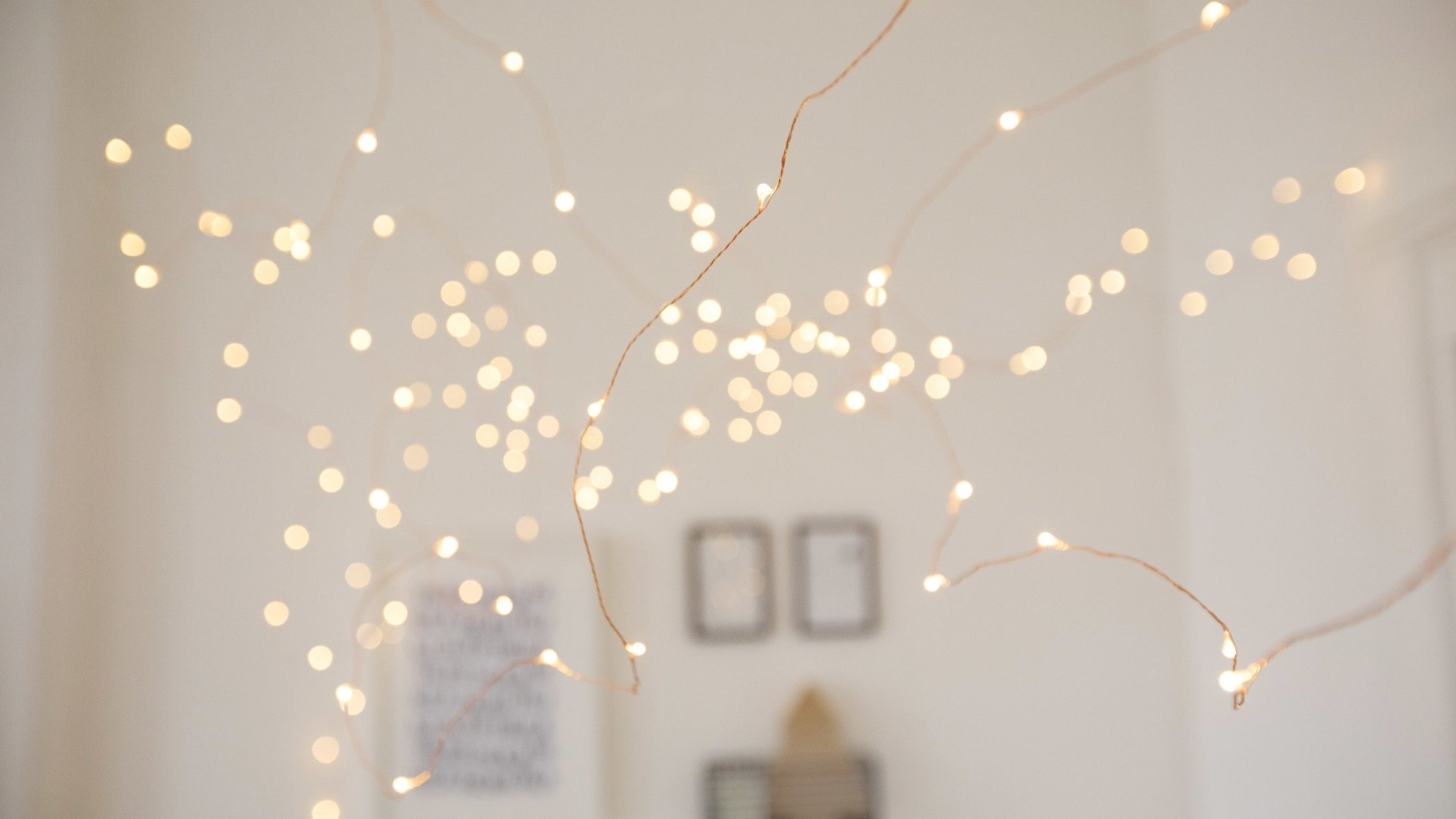 Fairy lights create a cosy atmosphere