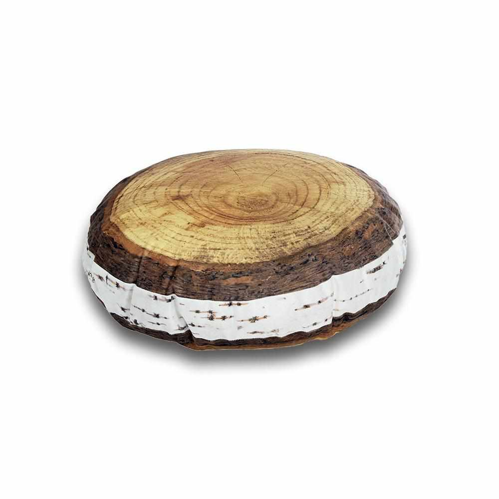 Nordic Birch Annual Ring Cushion - Ø 40 cm