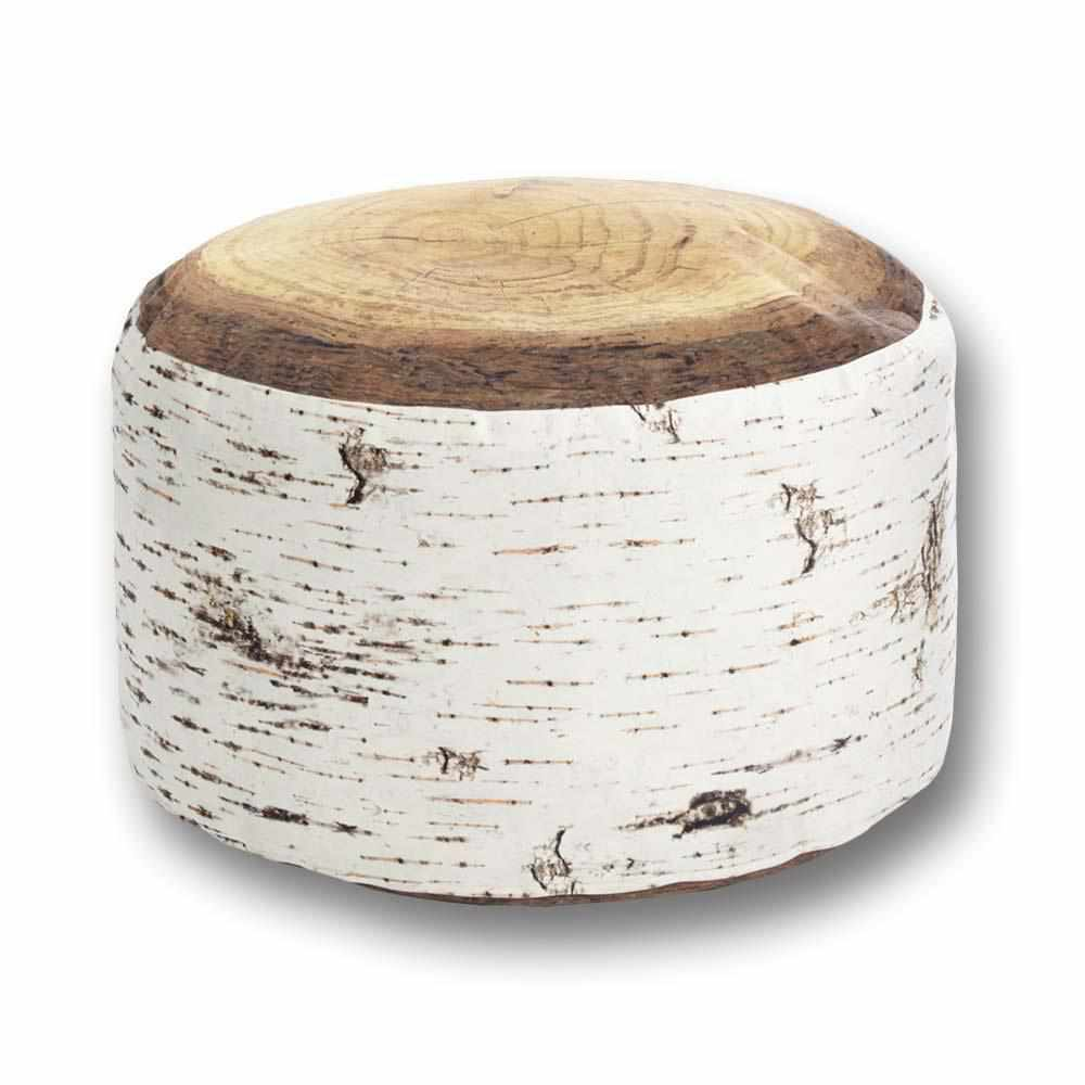 Nordic Birch Stump Pouf