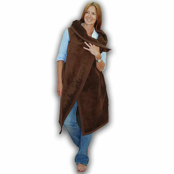 Short Wearable Blanket Brown