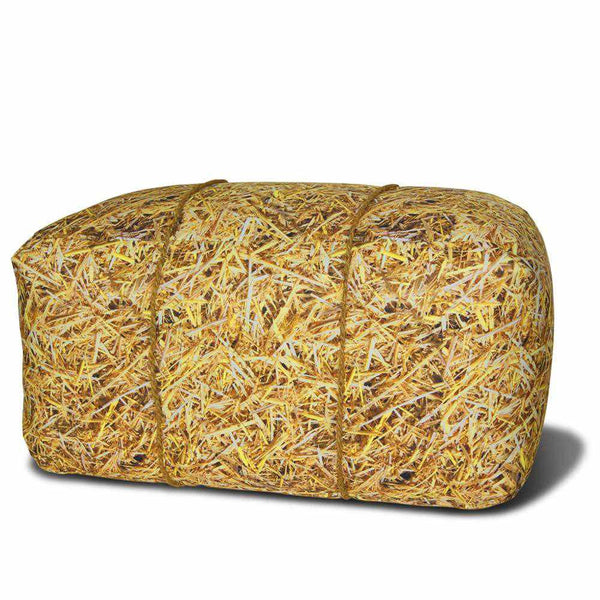 Straw Bale Bench Beanbag Outdoor