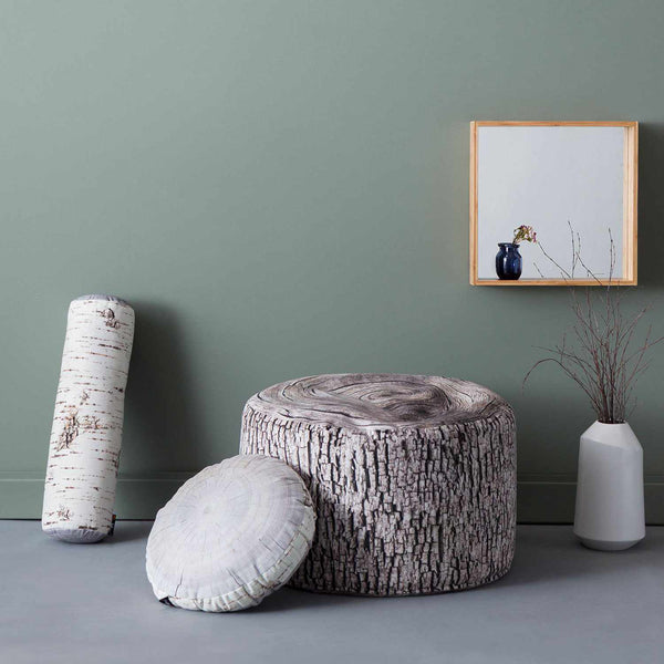 Birch Annual Ring Cushion - Ø 40 cm