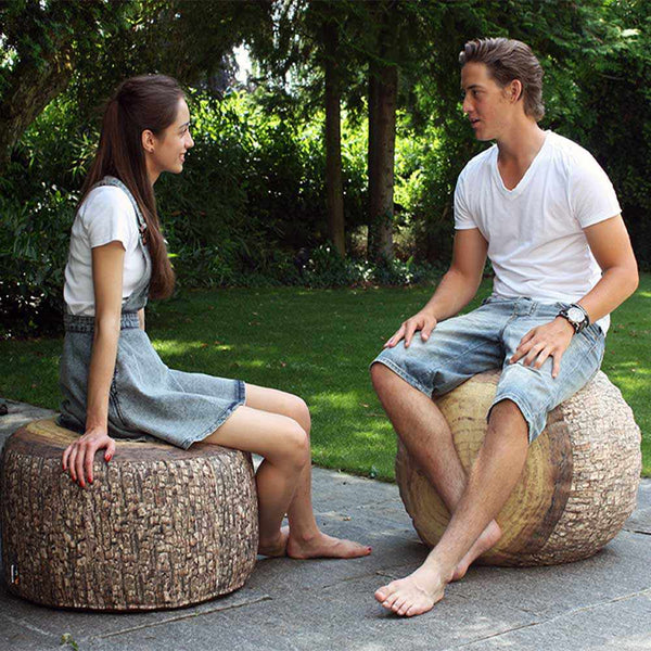 Outdoor Baumstumpf Pouf Forest