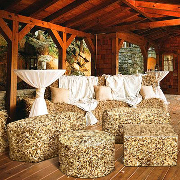 Straw Bale Coffee Table Outdoor