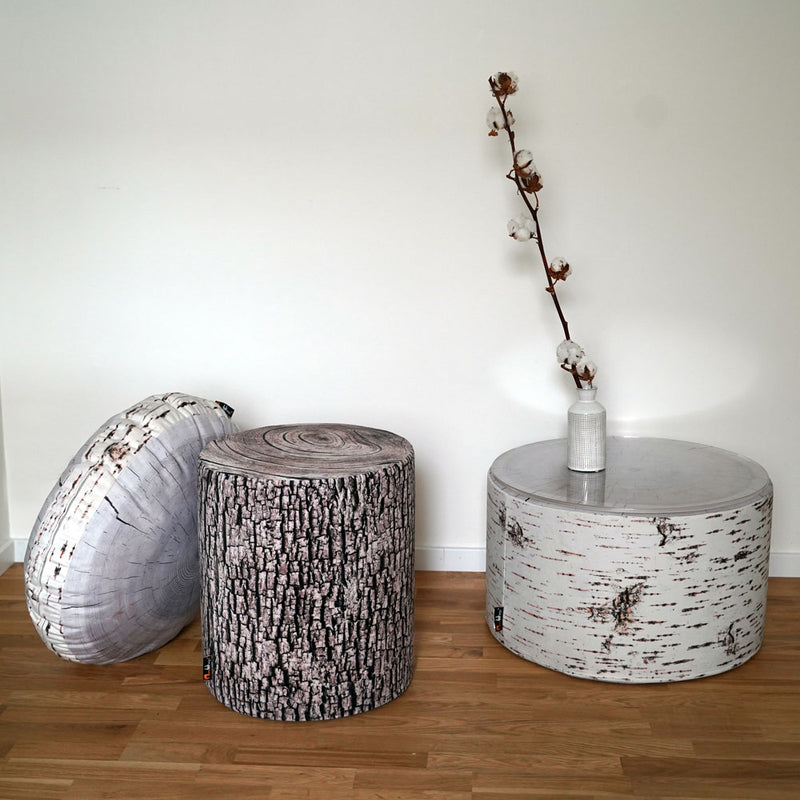 Birch Annual Ring Cushion - Ø 60 cm