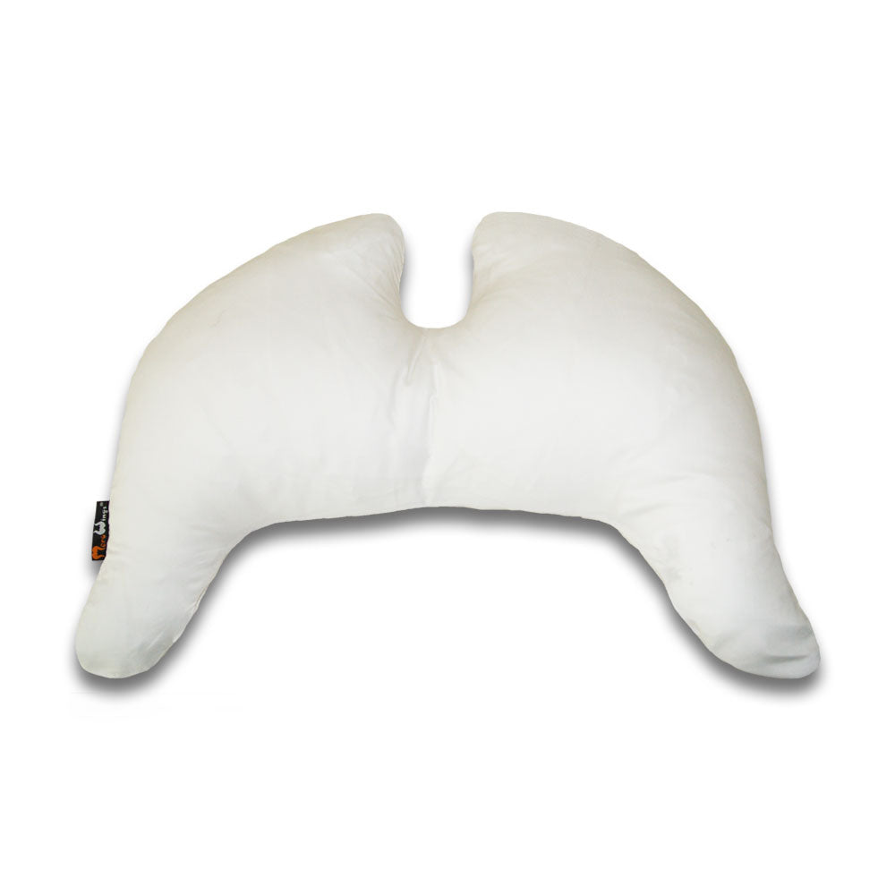 Grace Wings Sleeping Pillow Satin Cotton White