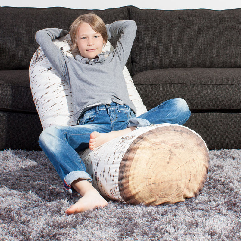 Nordic Birch Jumbo Tree Log Floor Cushion