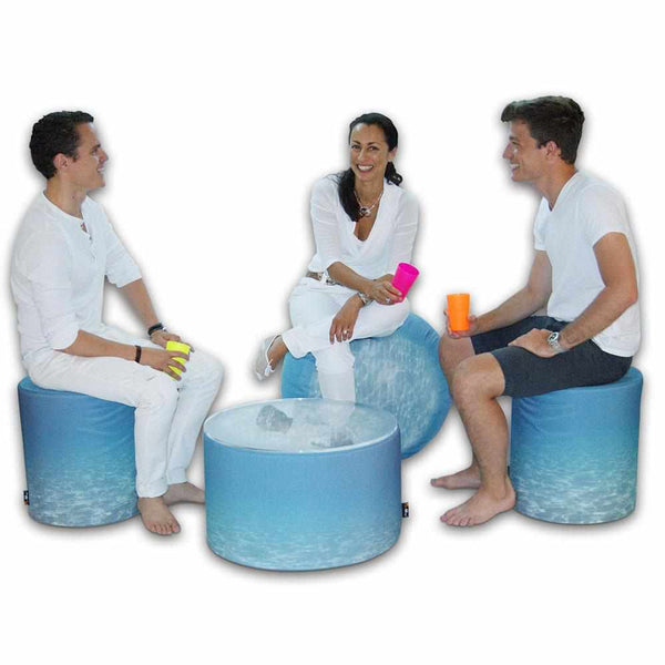 Outdoor Pouf Ocean