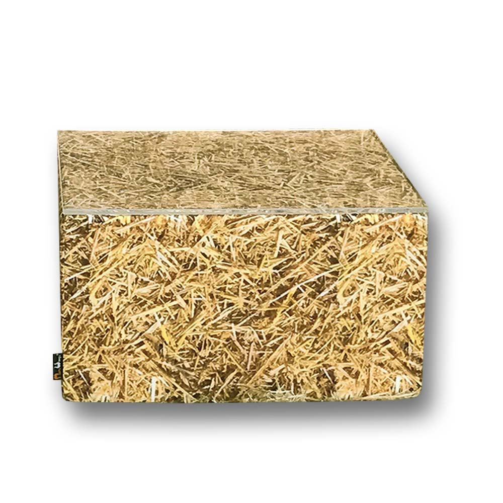 Straw Bale Square Coffee Table Outdoor