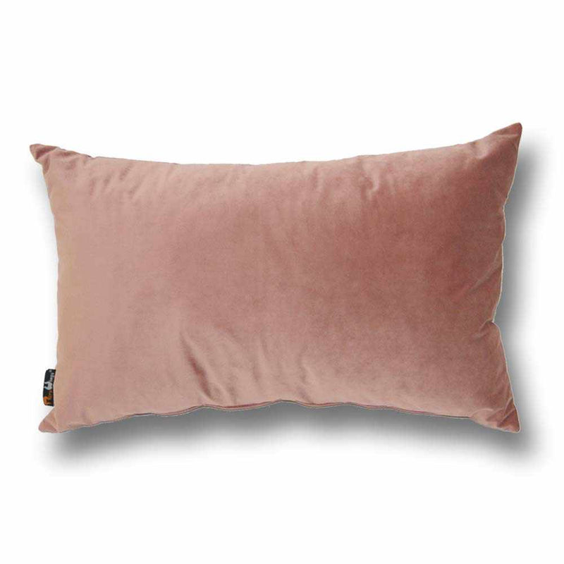 Luxury Velvet Rectangular Cushion Dusty Rose - 40 x 68 cm