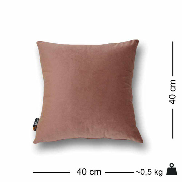 Luxury Velvet Square Cushion Dusty Rose - 40 x 40 cm