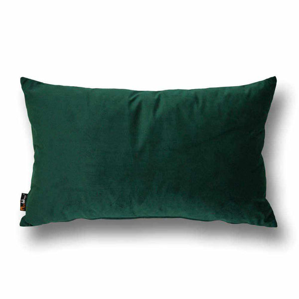Luxury Velvet Rectangular Cushion Forest Green - 40 x 68 cm