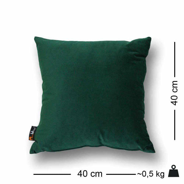 Luxury Velvet Square Cushion Forest Green - 40 x 40 cm