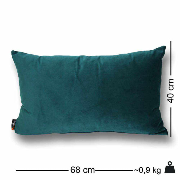 Luxury Velvet Rectangular Cushion Petrol Blue - 40 x 68 cm