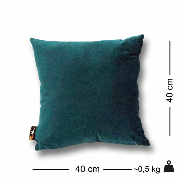 Luxury Velvet Square Cushion Petrol Blue - 40 x 40 cm