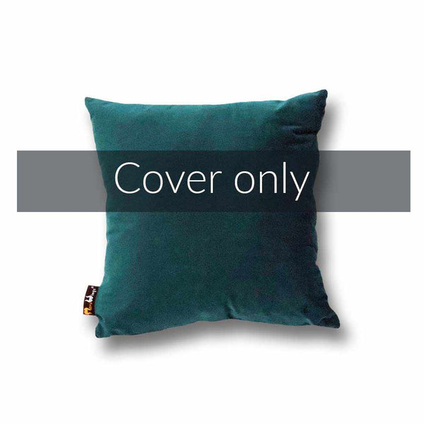 Luxury Velvet Square Cushion Cover Petrol Blue - 40 x 40 cm