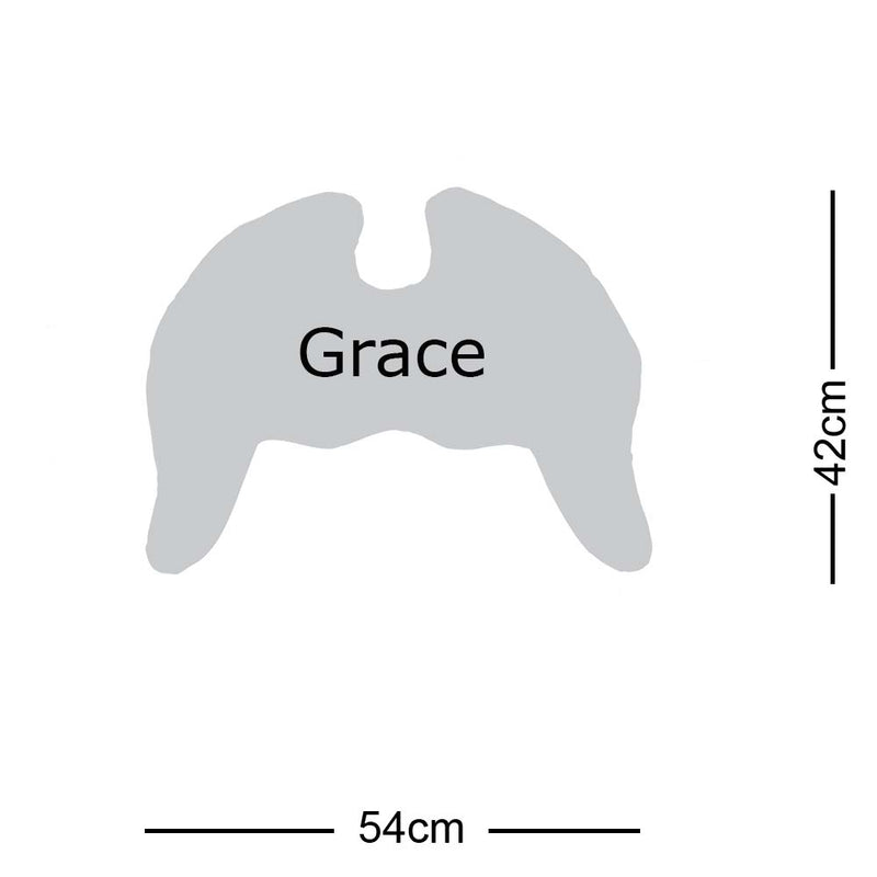 Grace Wings Pillow Stone Grey