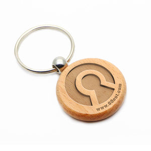 Wooden Engraved 60out Keychain