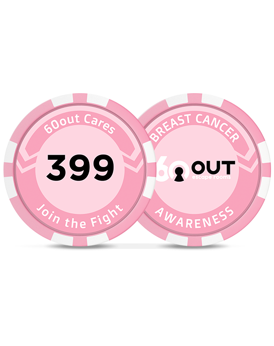 Limited Time Offer | 60out's Pink Charity Chip (Includes Contest Entry)