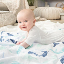 Load image into Gallery viewer, aden + anais seafaring 4 pack swaddles