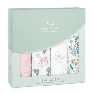 aden + anais forest fantasy 4 pack swaddles