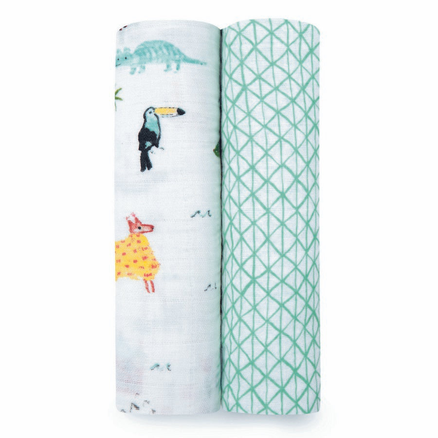 aden + anais 2 pack swaddles 'around the world'