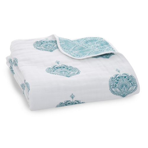 aden + anais paisley – teal dream blanket